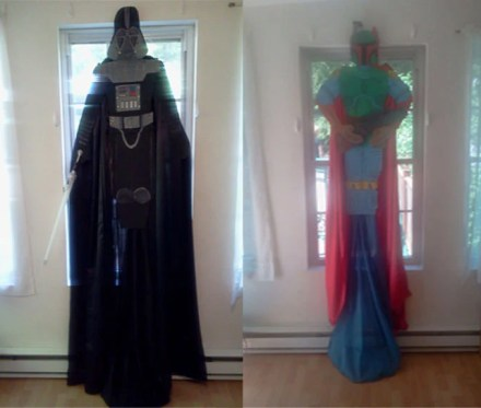 Darth Vader and Boba Fett Children Character Curtain Star Wars Collection