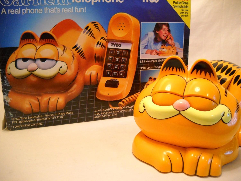 Vintage Garfield Telephone In Original Box 1980s