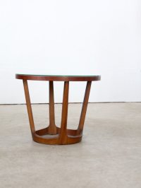 1960s Lane End Table / Mid Century Modern Round End Table