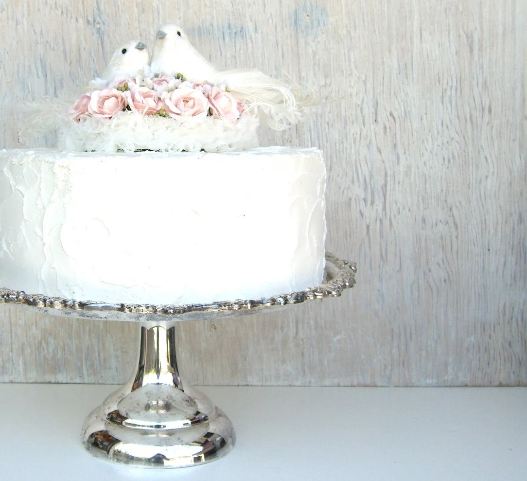 Silver Wedding Cake Stand Country French Traditional Glam