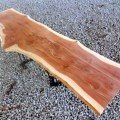 Diy table top wood cedar slab solid wood bench large coffee table
