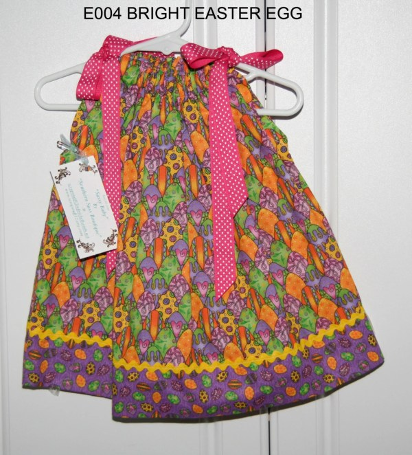 Bright Easter Egg Pillowcase Dress 12 Months And Size 5