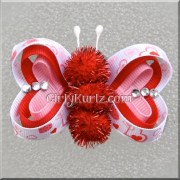 valentine's butterfly hair clip