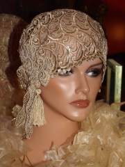 flapper hat cloche 1920 style personalized