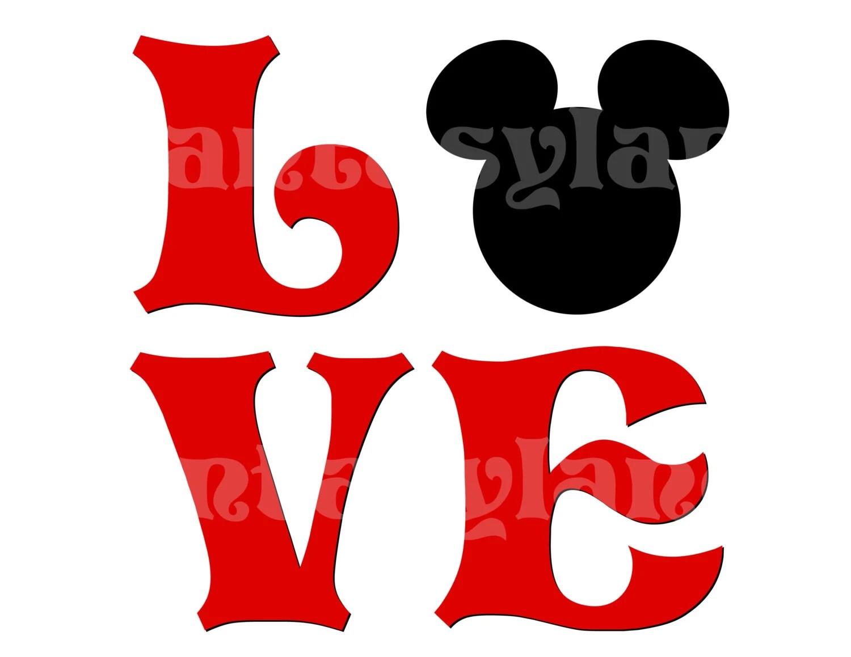 Mickey Love For Diy You Print Printable Iron Transfer Family