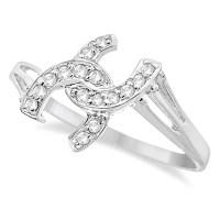0.10ct Diamond Horseshoe Fashion Right Hand Promise by Allurez