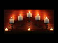 Fireplace Candelabra in metallic charcoal color for