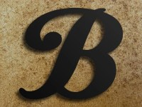 30 inch Extra Large Steel Letters and by SteelGooseMetalArt