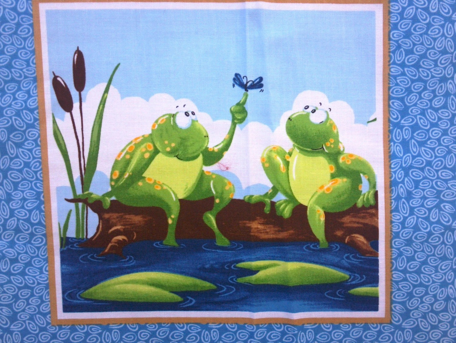 New Quilting Fabric By The Panel Frogs Amp Turtles World Of