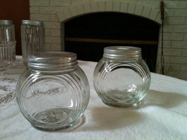 Vintage Hoosier Sellers Spice Jars With Original
