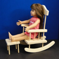 American Girl Doll High Chair Cloth Office Rocking For 18 Inch Ag Dolls 0103