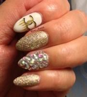 gold designer inspired stiletto
