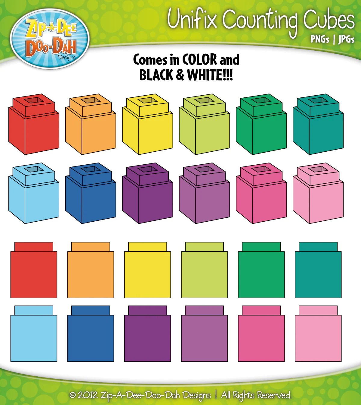Unifix Counting Cubes Clipart Over 25 By Zipadeedoodahdesign