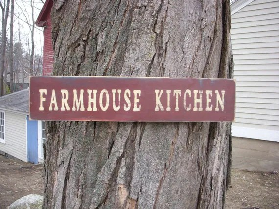 Items Similar Rustic Farmhouse Kitchen Wooden Sign Etsy