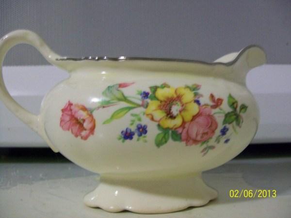 Vintage Homer Laughlin Creamer Virginia Rose Pattern
