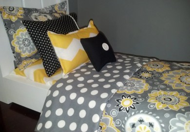 Yellow And Black Bedding