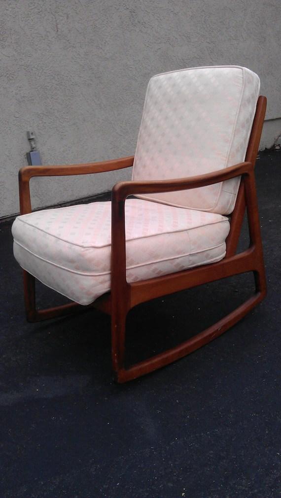 Stellar  Rare MCM John Stuart Rocking Chair mid century