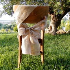 Burlap Chair Covers Ideas Hanging Egg Outdoor Sash Rustic Wedding By Madeinburlap On Etsy