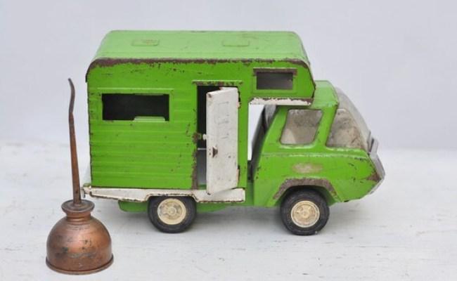 Vintage Green Metal Tonka Camper Reserved For Lisa
