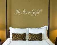 Be Our Guest Vinyl Wall Decal Perfect for Guest Bedroom or