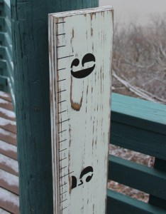 Children   wooden growth chart ruler for  nursery baby room or kids weathered also rh etsy