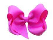4 bright pink hair bow