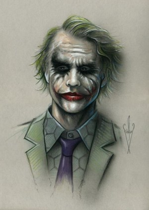 joker batman drawing dark knight heath ledger artwork pencil rises airbrush drawings sketch dc inch odwiedź