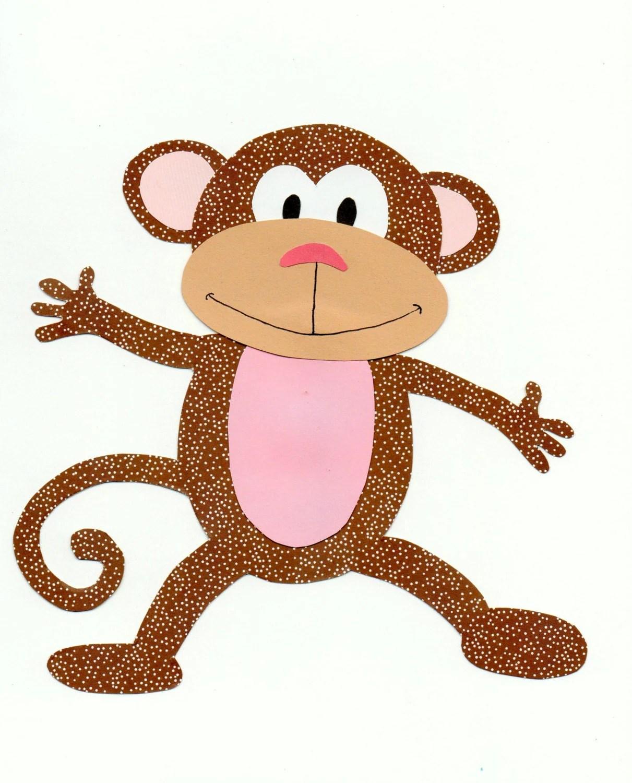 Jungle Animal Safari Animal Monkey Quilt Applique Template