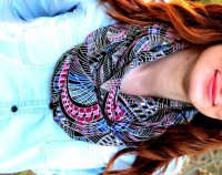 Woman Scarf Multicolored Infinity Scarf nice by SahmaranStyle