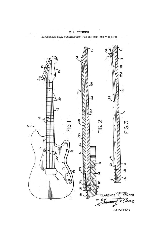 Fender Jaguar Drawing