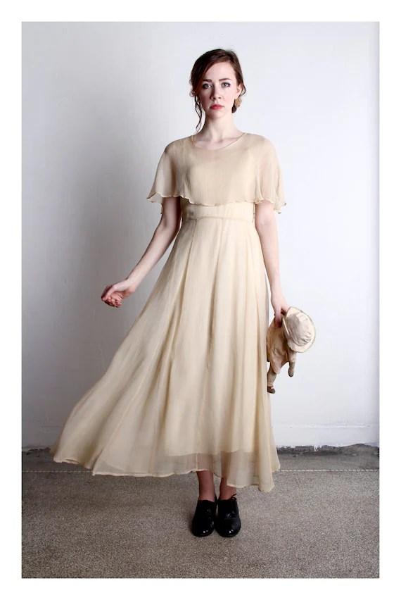 GATSBY 1920s Silk Dress Flapper High Fashion  Wedding Attire