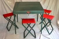 Coleman Folding Metal Camp Picnic Table & Stools 5201