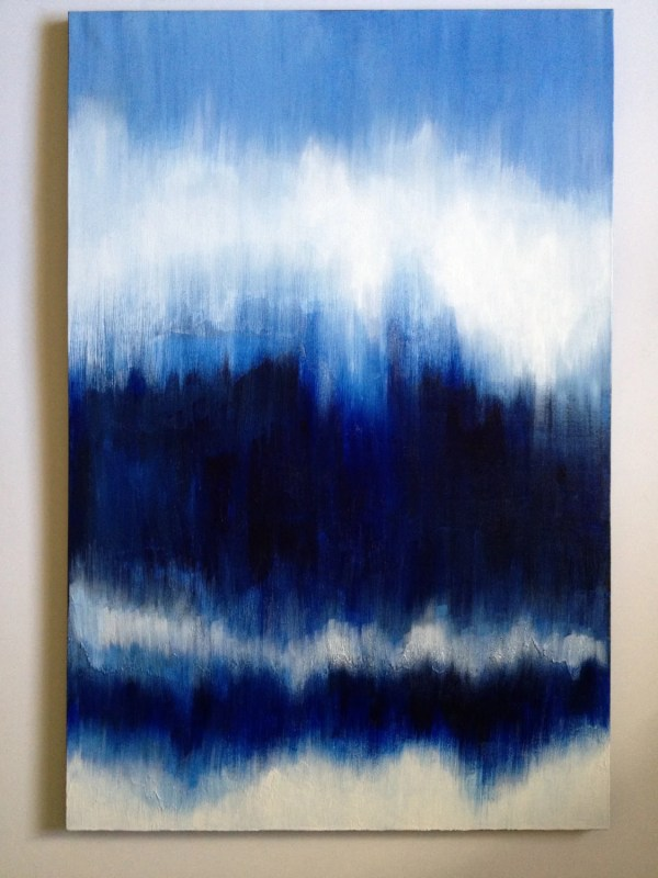 Personalized Blue Abstract Custom Painting