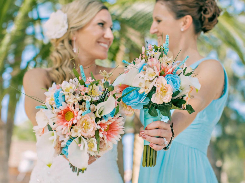 Destination Wedding Flowers Beach Bridal Bouquet Boutonniere