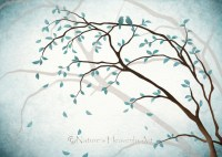 Romantic Love Bird Wall Art 5 x 7 Print by NaturesHeavenlyArt