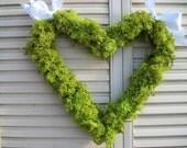 moss heart wreath