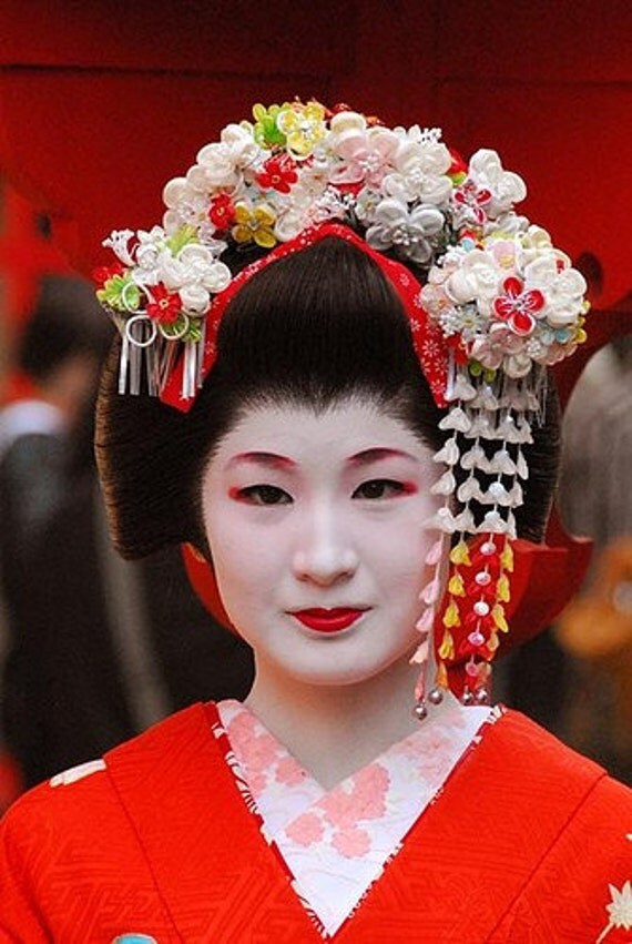 Vintage Hair Accessory Japanese Geisha Hair Comb Hairpin comb