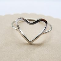 Open Heart Ring Sterling Silver Heart Promise Ring
