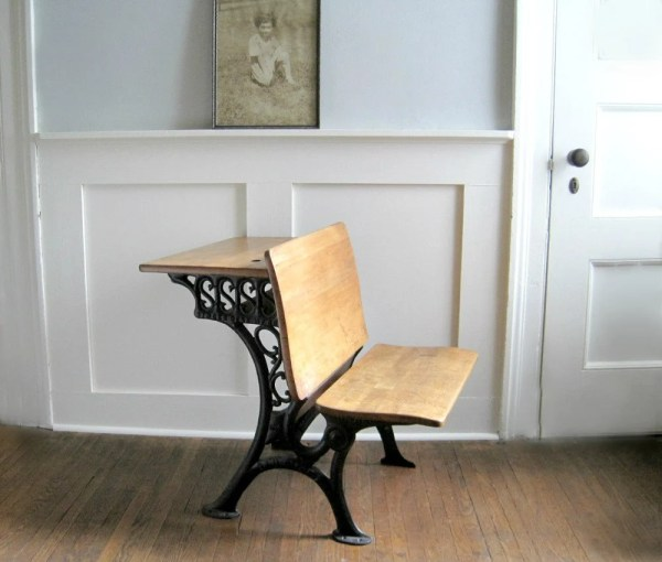 Antique School Desk Bench Seat Goldendaysantiques