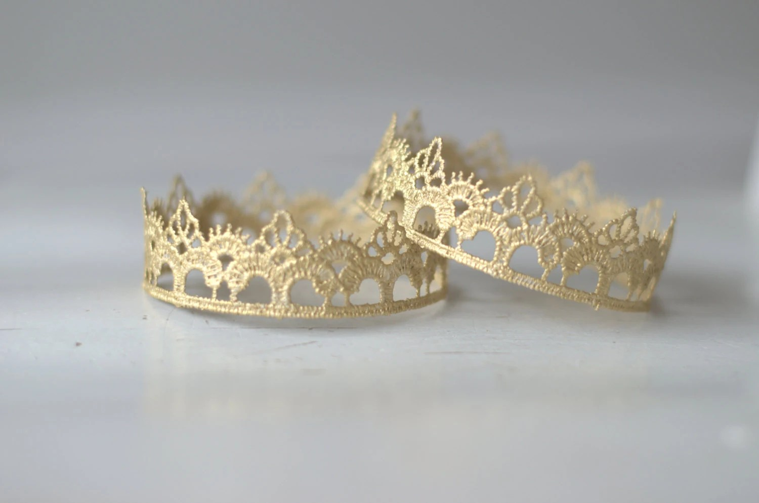 Ready To Ship Newborn Gold Lace Crown.  Baby Gold Crown.  Newborn Gold Lace Crown. Newborn Photography Prop. UK SELLER