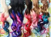 custom ombre dip dyed hair clip
