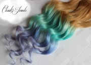 pastel clip in hair extensions