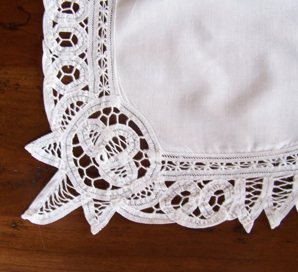 Battenburg Lace Placemats Pair Cotton With Handmade