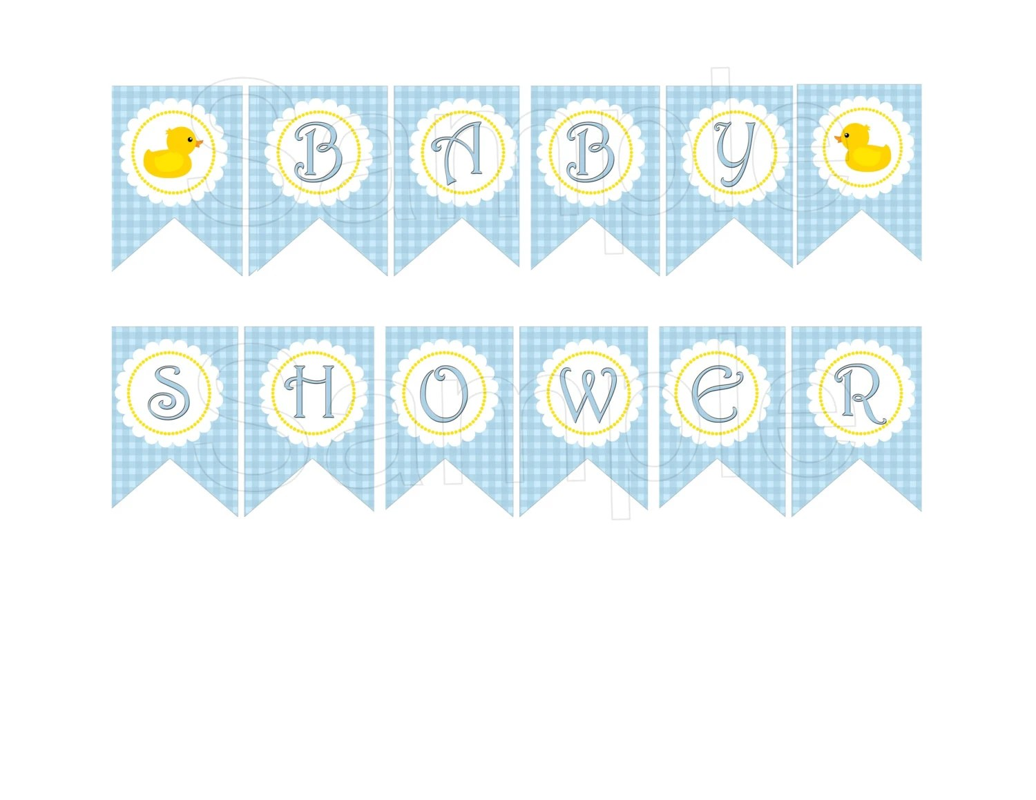 Blue Rubber Duck Baby Shower Diy Printable Banner By Suzz377
