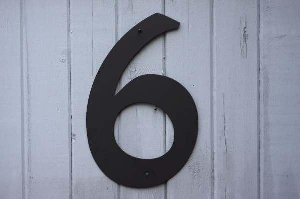 Metal House Numbers Modern