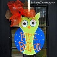 Classroom Door Hanger: Owl Birthday Door Decoration Owl