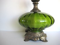 Vintage green table lamp green glass lamp by PatinaMarket ...