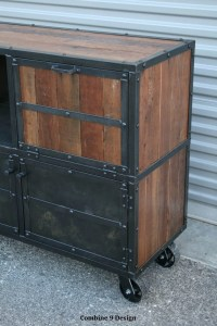 Bar Cart/Liquor Cabinet. Vintage Industrial. Urban/Modern