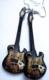 Black Veil Brides Jinxx guitar earrings