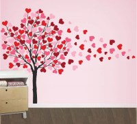 Heart Tree Wall Decal, Tree Wall Decals for Nursery, Large ...